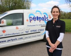 Daily Mail. Jo Davies, Petpals Salisbury, franchisee. Petpals provide a professional pet sitting and dog walking service. Salisbury, Wiltshire. 3 May 2013