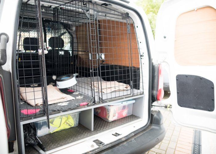 Inside a Petpals van